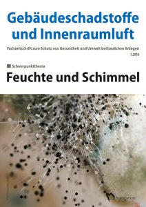 Cover der Schriftenreihe Gebäudeschadstoffe und Innenraumluft, Ausgabe Feuchte und Schimmel