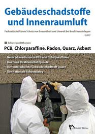 Cover der Schriftenreihe Gebäudeschadstoffe und Innenraumluft, Band 3: PCB, Chlorparaffine, Radon, Quarz, Asbest
